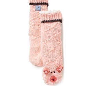 Jane and Bleecker Slipper socks Pig